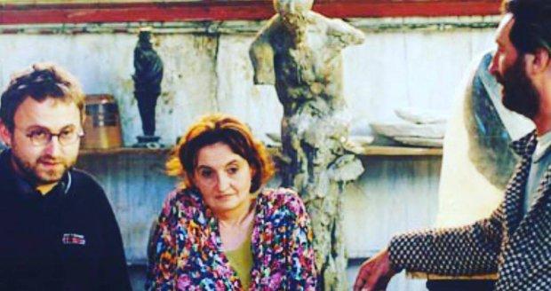 Eva Holubová při natáčení filmu Pupendo