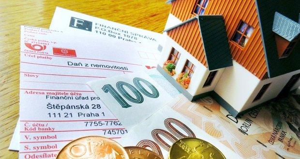 Daň z nemovitosti je potřeba zaplatit do zítřka.