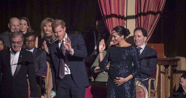 Princ Harry a vévodkyně Meghan Markleová na show Cirque du Soleil.