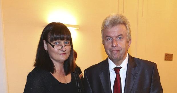 Jaroslav Svěcený s manželkou Monikou