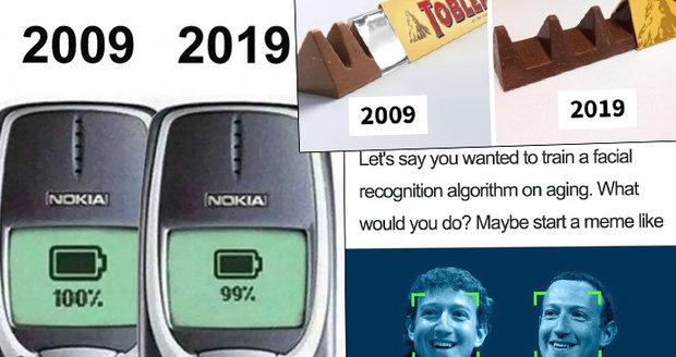 Nejlepší parodie desetileté výzvy na Facebooku.