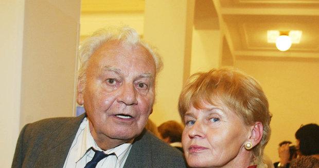 Petr Haničinec (†77) se svou poslední ženou Radkou.