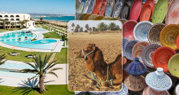 Léto uprostřed zimy najdete v Tunisku, láká plážemi i orientálním vnitrozemím