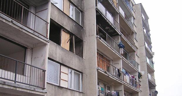 Chanov dnes: Většina panelových domů je vybydlená.