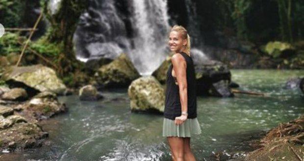 Dara Rolins na dovolené na Bali