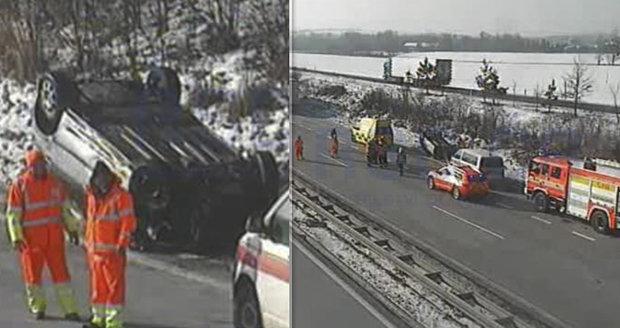 Nehoda na D1 u Bravantic uzavřela dopravu z Ostravy na Brno.