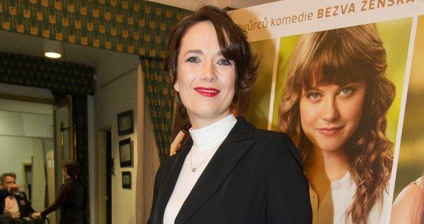 Tereza Kostková na premiéře filmu Ženy v běhu