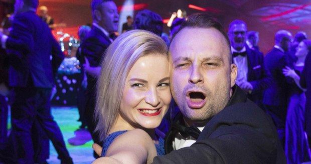 Marek Dědík s manželkou Terezou