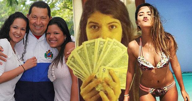Zlatá mládež v zemi bídy: Luxusu si užívají i dcery exprezidenta Venezuely