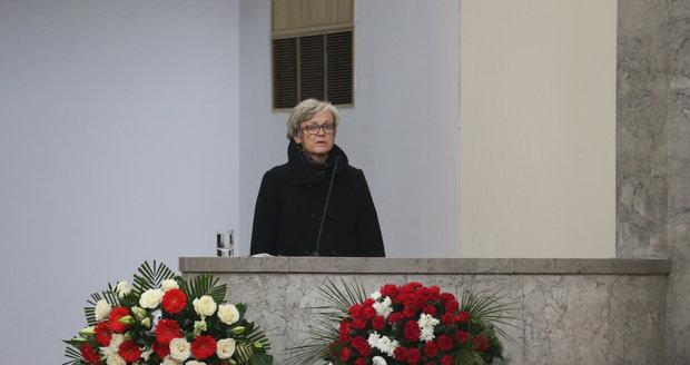 Pohřeb režiséra Václava Vorlíčka.