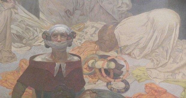 Cyklus 20 velkoplošných pláten Slovanská epopej vytvořil Alfons Mucha v letech 1912-1926.