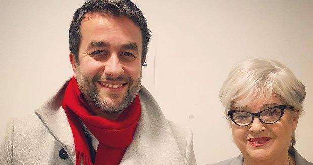 Božidara Turzonovová s hercem Vladem Kobielským