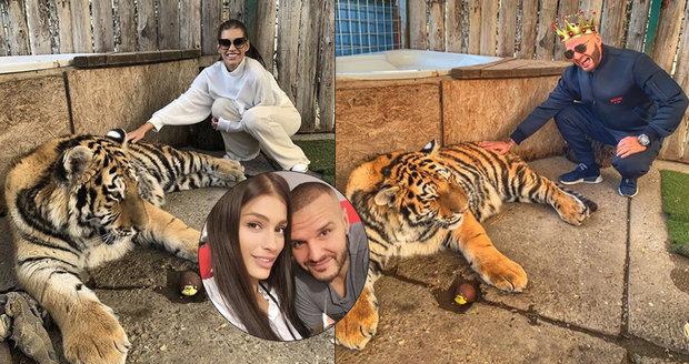 2423fcf4e76 Těhotná Jasmina Alagičová vlezla do výběhu k tygrovi! Pak jen ...
