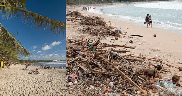 """Dovolenkový ráj se ztrácí pod hromadami odpadků. """"Neskutečné,"""" stěžují si lidé"""