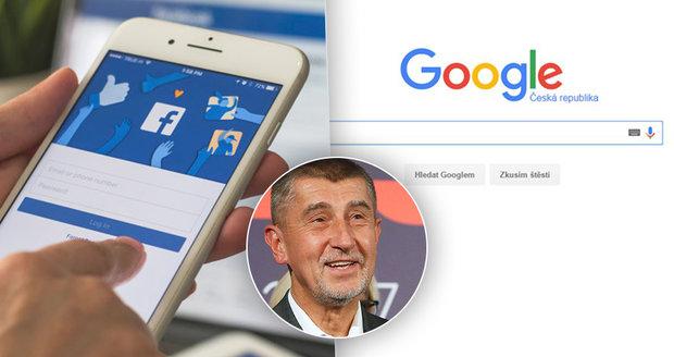 """""""Neplatí dost."""" Babiš chce v Česku zdanit giganty Google, Facebook nebo Apple"""