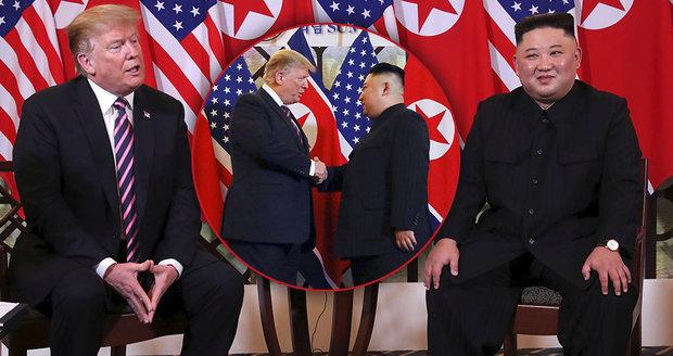 """Kim a Trump opět spolu, jednání """"o míru"""" začala hádkou o to, co bude k večeři"""