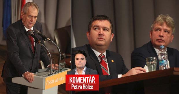 Komentář: Zeman odložil hůl a slíbil ČSSD hlas. Na oživení to Hamáčkovi s Onderkou stačit nebude
