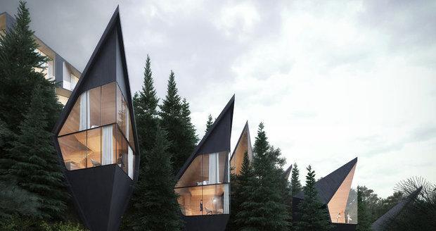Architekt navrhl v Dolomitech futuristické domy na stromě