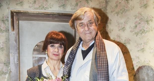 Veronika Freimanová a Zdeněk Žák po derniéře
