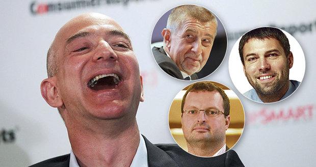"""Nejbohatším mužem světa je šéf Amazonu. Do žebříčku miliardářů """"nakouklo"""" osm Čechů"""