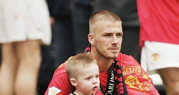 David Beckham s malým Brooklynem