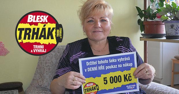 """""""Výhra v Trháku se moc hodí,"""" libuje si Zdeňka Rucká."""