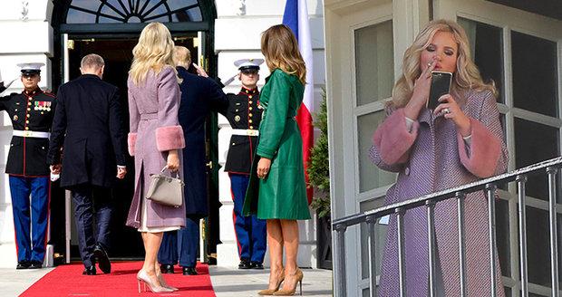 Americký trapas: Babiš a Trump opustili manželky. Monika se uklidnila cigaretou na hotelu