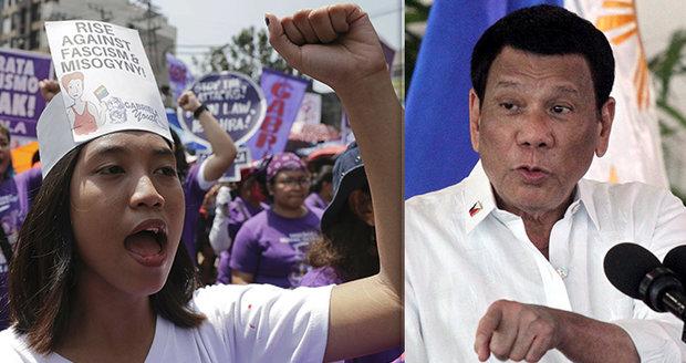 """""""Děvky!"""" Prezident Filipín se opřel do žen i kněžích: """"Bůh jim dal penis a udělal chybu"""""""