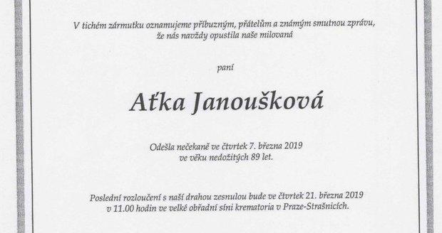 Parte Aťky Janouškové
