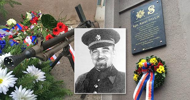 Nacistům čelil se zbraní v ruce, život položil za svobodu: Karel Pavlík (†42) má teď v Praze pamětní desku