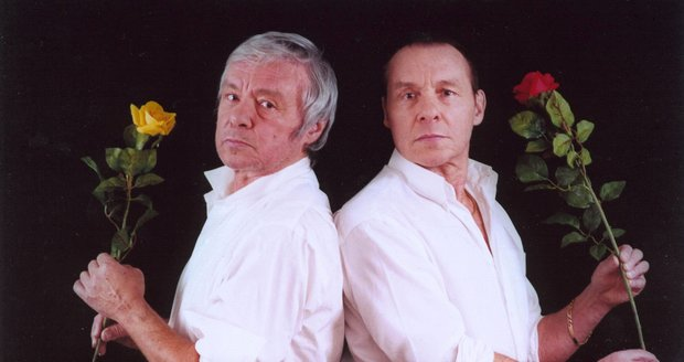 Kája Saudek (†80) s bratrem Janem (83) v roce 2006 (zleva).