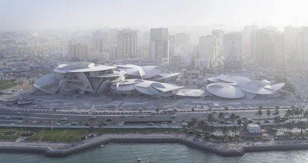 V Dauhá vzniklo muzeum ve tvaru pouštní růže. Stálo skoro 10 miliard korun
