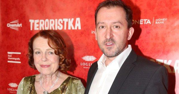 Premiéra filmu Teroristka: Iva Janžurová a Martin Hofmann