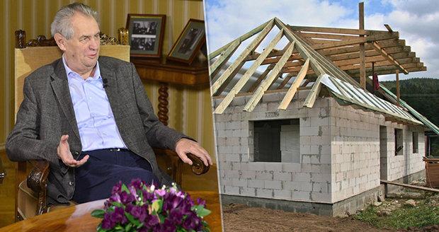 """Zeman v Lánech jednal o pomalých českých stavbách. Stavební řízení má zrychlit """"fikce"""""""
