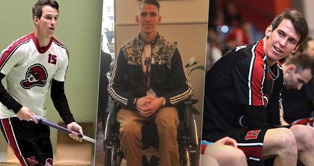 """Zázrakem přežil: Florbalistu Radka (27) pobodali na ulici, přišel kvůli tomu o nohu. """"Chci zase sportovat,"""" říká"""