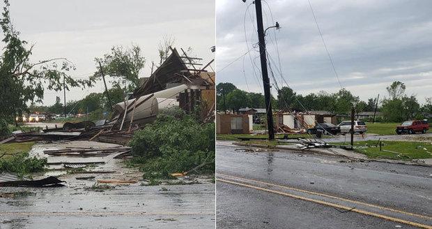 Bouře s tornády zabily v USA dvě děti, strom je rozmačkal před zraky rodičů