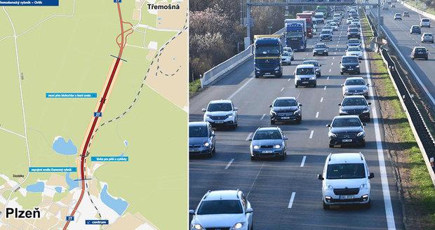 Začala stavba čtyřpruhové silnice mezi Plzní a Třemošnou.
