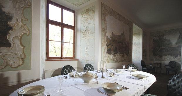 Jídelna na hradě Veveří