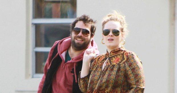 Adele s manželem v době, kdy jejich láska ještě trvala