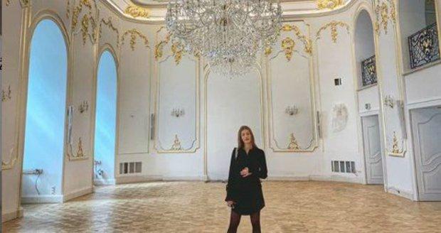 Těhotná Jasmina Alagičová vybrala místo svatby na zámku.