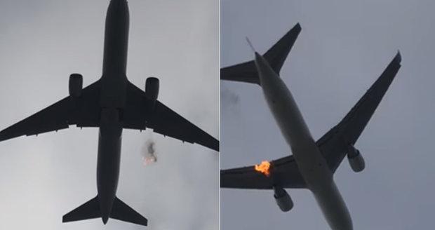 Boeingu vzplál za letu jeden motor: Pasažéři v panice bezmocně čekali na nejhorší