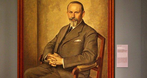 Přemysl Šámal na obrazu Viktora Strettiho z roku 1937.