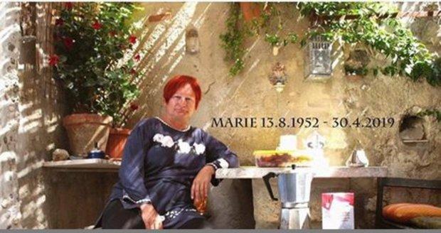 Spisovatelka a dramaturgyně Marie Třešňáková