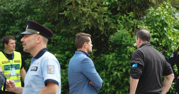 Na místo přijel i ředitel pražské policie Jan Ptáček.