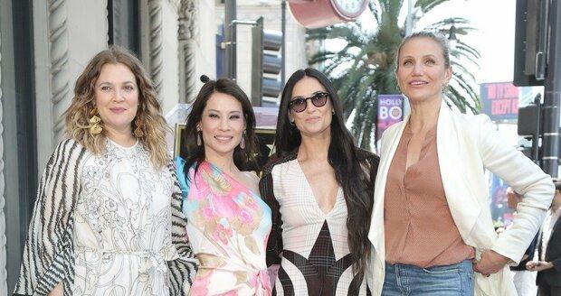 Charlieho andílci s herečkou Demi Mooreovou