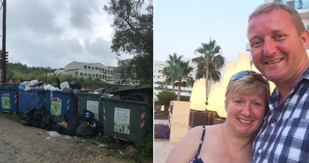 Horor místo luxusní dovolené: Manžele na Korfu zaskočily hory odpadků i problémy s vodou