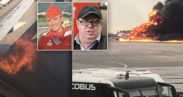 Cestu z hořícího letadla zablokoval cestujícím rozčilený tlouštík: Lidé promluvili o chaosu a panice