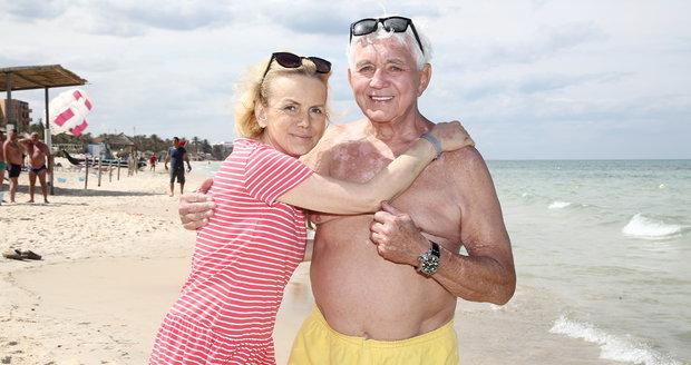 Hana Krampolová s manželem