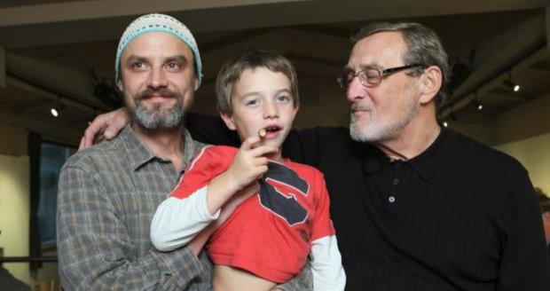 Ladislav Frej se synem Ladislavem a vnukem Štěpánem