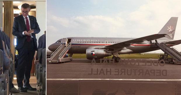 Střelba v Babišově letadle: Bodyguard neporušil zákon, rozhodla inspekce